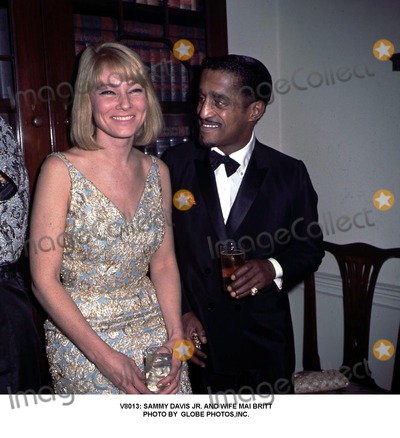 Mai Britt Photo -  Sammy Davis Jr and Wife Mai Britt Photo by Globe Photosinc