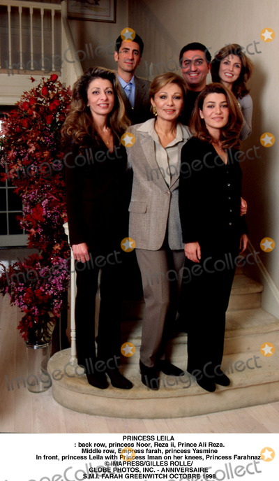 Prince Ali Photo - PRINCESS LEILAThis exceptional photograph was taken on the occasion of the 60th birthday of Empress farah in the usa (GREEWICH) in 1998For the photograph on the staircase back row princess Noor Reza ii Prince Ali RezaMiddle row Empress farah princess YasmineIn front princess Leila with Princess Iman on her knees Princess Farahnaz IMAPRESSGILLES ROLLEGLOBE PHOTOS INC - ANNIVERSAIRE SMI FARAH GREENWITCH OCTOBRE 1998