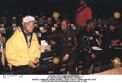 Rev Run Photo -  Phat Farm Fashion Show at the Puck Building in NYC 040999 Russell Simmons Andre Harrell Sean Puffy Combs and Rev Run Photo by Rick Macklergobe Photos Inc
