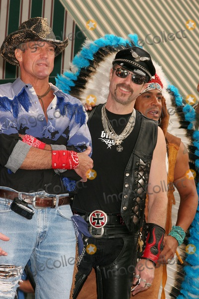 Village People Photo - the Village People Honored with a Star on the Hollywood Walk of Fame Hollywood Blvd Hollywood CA 091208 Jeff Olson and Eric Anzalone and Felipe Rose of the Village People Photo Clinton H Wallace-photomundo-Globe Photos Inc