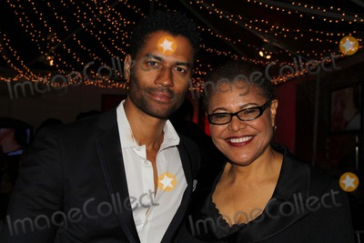 Karen Bass Photo - 13th Annual Children Uniting Nations Academy Awards Viewing Dinner Party and Celebration Private Location Beverly Hills CA 02262012 Eric Benet and Congresswoman Karen Bass Photo Clinton H Wallace-ipol-Globe Photos Inc