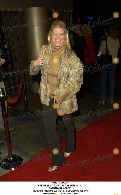 Sarah Ann Morris Photo - The Pledge Premiere at Egyptian Theatre in LA Sarah Ann Morris Photo by Fitzroy Barrett  Globe Photos Inc 01-09-2001 K20706fb (D)