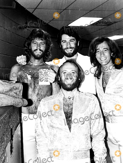 Bee Gees Photo - The Bee Gees and John Travolta 1979 Bob ShermanGlobe Photos Inc Beegeesretro