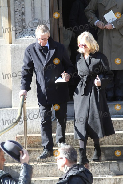 Phillip Seymour Hoffman Photo - Phillip Seymour Hoffman Funeral at St Ignatius Loyola Church in Manhattan Bruce Cotler 2014 Diane Sawyer and Husband