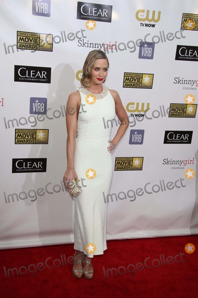 Emily Blunt Photo - Actress Emily Blunt Arrives at the the 18th Annual Critics Choice Awards at the Barker Hanger in Santa Monica USA on 10 January 2013 Photo Alec Michael Photos by Alec Michael-Globe Photos Inc