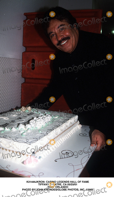 Tony Orlando Photo -  Casino Legends Hall of Fame Tiffany Theatre CA 032301 Tony Orlando Photo by John KrondesGlobe Photos Inc