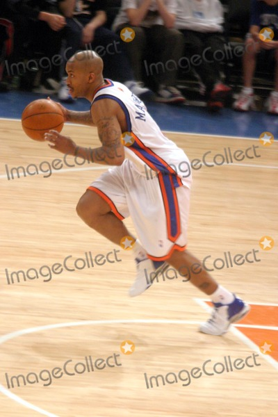 Stephen Marbury Photo - New York Knicks Vs the Cleveland Cavaliers at Madison Square Garden (Msg) New York City 02222004 Photo John Barrett Globe Photos Inc 2004 Stephen Marbury