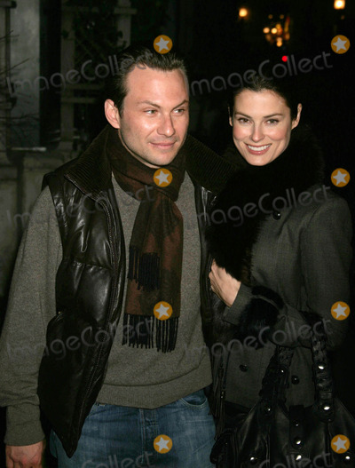 Ryan Haddon Photo - Celebrities Arriving and Departing the Opening Night of the Glass Menagerie Barrymore Theatre New York City 03-22-2005 Photo by Rick Mackler-rangefinder-Globe Photos 2005 Christian Slater and Wife Ryan Haddon