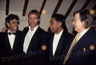 Antonio Carlos Jobim Photo - Sting with Gilberto Gil Caetano Veloso and Antonio Carlos Jobim at Rainforest Foundation 1991 L1219 Photo by John Barrett-Globe Photos Inc