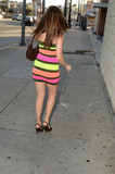 Photos From HBO Star Erika Jordan spotted in a Colorful Dress
