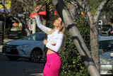 Photos From Brazilian Playmate Ana Braga Street Sighting in a Scandalous Top