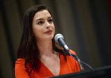 Photos From Anne Hathaway speaks at a UN Press Conference
