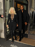 Givenchy,Kanye West Photos - Photo by KGC-102starmaxinccomSTAR MAX2015ALL RIGHTS RESERVEDTelephoneFax (212) 995-11963815Kim Kardashian and Kanye West are seen leaving the Royal Monceau Raffles Hotel en route to the Givenchy Runway Show during Paris Fashion week(Paris France)