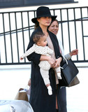 Photos From Chrissy Teigen, John Legend and baby Luna are seen in Los Angeles, CA