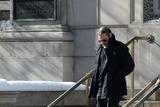 Philip Seymour Hoffman Photo - February 7 2014 New York CityJoaquin Phoenix attending Philip Seymour Hoffmans funeral at St Ignatius Loyola Church in Manhattan on February 7 2014 in New York City