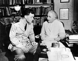 Albert Einstein Photo - Lt (Jg) Clifford L Comstock Visits Dr Albert Einstein at His Home in Princeton NJ Globe Photos Inc