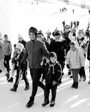 Jacqueline Kennedy Onassis Photo - Jacqueline Kennedy Onassis with Children Caroline and John Jr Globe Photos Inc Jacquelinekennedyonassisobit