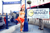 Jodie Marsh Photos - Photo Must Be Credited Neil MockfordalphaGlobe Photos Inc 059625 11-07-2005 Jodie Marsh Unveils New Peta Ad Campaign Urging Tube Riders to Say No to Nuggets Oxford Circus Tube Station in London