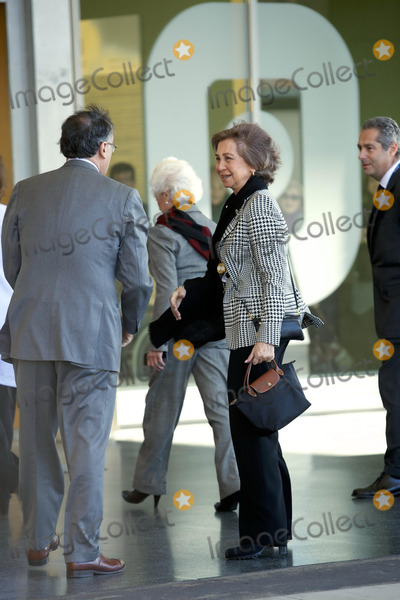 Queen Sofia of Spain Photo - Queen Sofia of Spain arrive at the Hospital Universitario Quiron to visit King_Juan_Carlos of Spain after his hip surgery to get a final prosthesis on his left hip in Pozuelo de Alarcon Spain 21112013Credit ThortonPPEface to face- No Rights for Netherlands -