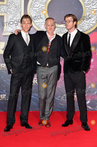 Alan Taylor Photo - Tom Hiddleston (Actor) Alan Taylor (Governing) and Chris Hemsworth (Actor) attending the Germany premiere of the movie THOR THE DARK KINGDOM at CineStar Sony Center Potsdamer Platz in Berlin Berlin 27102013 Credit Timmface to face