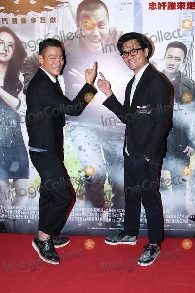 Andy Lau Photo - Cast members Andy Lau and Ka Tung Lam promote film Firestorm in Hong KongChina on Sunday December 152013Credit Topphotoface to face- No rights for China and Taiwan -