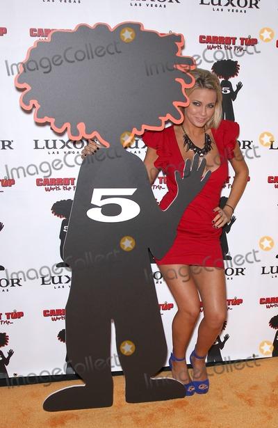 Angel Porrino Photo - 20 December 2010 - Las Vegas Nevada - Angel Porrino Carrot Top celebrates 5 years at the Luxor Photo MJTAdMedia
