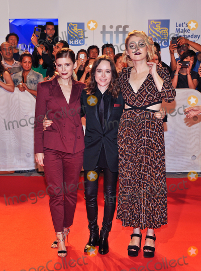 Ellen Page Photo - 15 September 2017 - Toronto Ontario Canada - Kate Mara Ellen Page Amy Seimetz  2017 Toronto International Film Festival - My Days Of Mercy Premiere held at Roy Thomson Hall Photo Credit Brent PerniacAdMedia