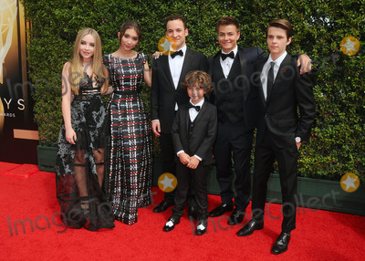 August Maturo Photo - 12 September 2015 - Los Angeles California - Sabrina Carpenter Rowan Blanchard Ben Savage August Maturo Peyton Meyer Corey Fogelmanis 2015 Creative Arts Emmy Awards - Arrivals held at the Microsoft Theatre Photo Credit Byron PurvisAdMedia