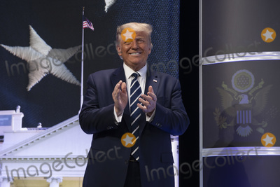 RITZ CARLTON Photo - United States President Donald J Trump arrives to speak at the 2020 Council for National Policy Meeting at the Ritz Carlton in Arlington VA on Thursday August 20 2020   Credit Tasos Katopodis  Pool via CNPAdMedia
