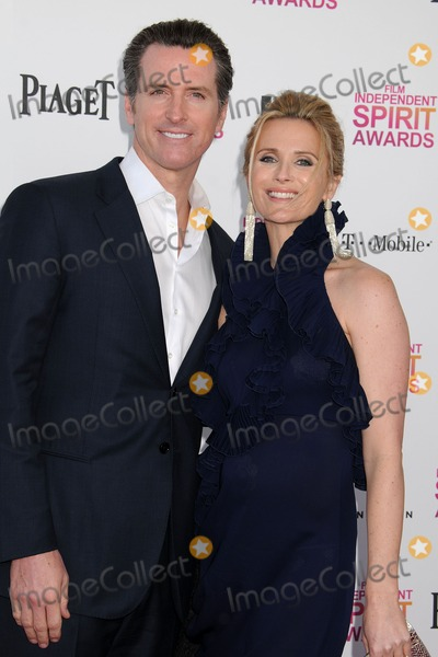Jennifer Siebel Photo - 23 February 2013 - Santa Monica California - Gavin Newsom Jennifer Siebel Newsom 2013 Film Independent Spirit Awards - Arrivals held at Santa Monica Beach Photo Credit Byron PurvisAdMedia