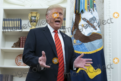 The Ceremonies Photo - United States President Donald J Trump speaks to the media after participating in the Ceremonial Swearing-In of Gene Scalia as the Secretary of Labor at the White House September 30 2019 Photo Credit Chris KleponisCNPAdMedia