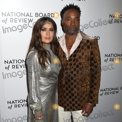 The National Photo - 08 January 2020 - New York New York - Salma Hayek and Billy Porter at the National Board of Review Annual Awards Gala held at Cipriani 42nd Street Photo Credit LJ FotosAdMedia