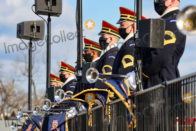 US Army Photo - WASHINGTON DC - JANUARY 20 Members of the US Army Band Pershings Own look on ahead of the inauguration of US President-elect Joe Biden on the West Front of the US Capitol on January 20 2021 in Washington DC  During todays inauguration ceremony Joe Biden becomes the 46th president of the United States Credit Tasos Katopodis  Pool via CNPAdMedia