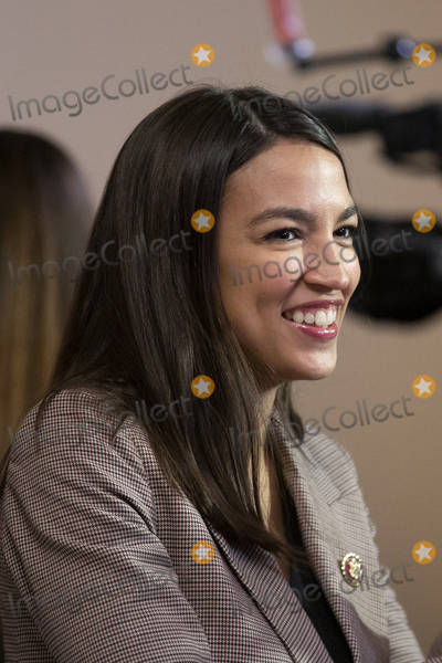 Alexandria Ocasio-Cortez Photo - United States Representative Alexandria Ocasio-Cortez (Democrat of New York) departs a television interview at the United States Capitol in Washington DC US on Thursday January 9 2020Credit Stefani Reynolds  CNPAdMedia