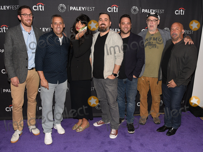 Jameela Jamil Photo - 13 September 2019 - Beverly Hills California - (L-R) Dan Newmark Joe Gatto Jameela Jamil Brian Quinn Ben Newmark Andy Breckman and Michael Bloom The Misery Index at The Paley Center For Medias 13th Annual PaleyFest Fall TV Previews - TBS Photo Credit Billy BennightAdMedia