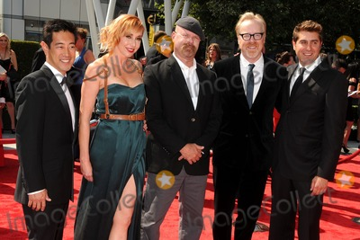 Adam Savage Photo - 10 September 2011 - Los Angeles California - Grant Imahara Kari Byron Jamie Hyneman Adam Savage and Tory Belleci 2011 Primetime Creative Arts Emmy Awards held at Nokia Theatre LA Live Photo Credit Byron PurvisAdMedia