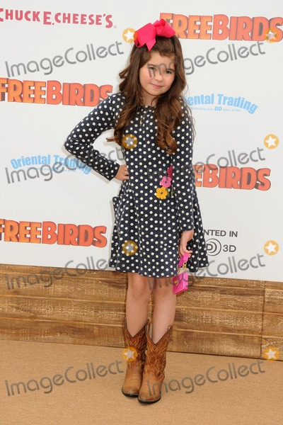 Addison Riecke Photo - 13 October 2013 - Westwood California - Addison Riecke Free Birds Los Angeles Premiere held at the Westwood Village Theatre Photo Credit Byron PurvisAdMedia