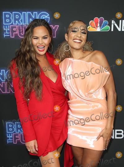 Chrissie Teigen Photo - 26 June 2019 - Los Angeles California - Chrissy Teigen Amanda Seales NBCs Bring The Funny Premiere Event  held at The Rockwell Table  Stage Photo Credit Faye SadouAdMedia