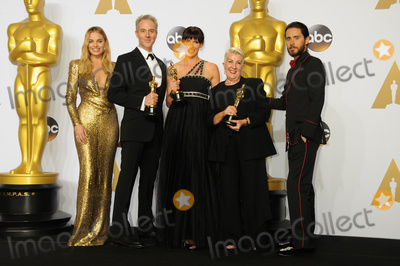 Margot Robbie Photo - 28 February 2016 - Hollywood California - Margot Robbie Damian Martin (2nd from L) Elka Wardega (C) and Lesley Vanderwalt (2nd from R) Jared Leto winners of the Best Makeup and Hairstyling award for Mad Max Fury Road 88th Annual Academy Awards presented by the Academy of Motion Picture Arts and Sciences held at Hollywood  Highland Center Photo Credit Byron PurvisAdMedia