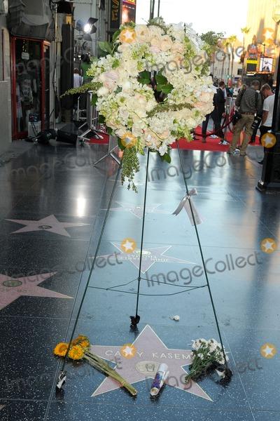 Casey Kasem Photo - 17 June 2014 - Hollywood California - Casey Kasem Star Flowers Adorn the Casey Kasem Star on the Hollywood Walk of Fame Photo Credit Byron PurvisAdMedia