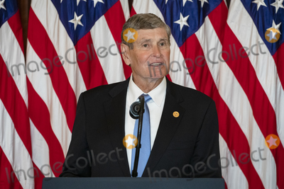 The Ceremonies Photo - Former United States Representative Jim Ryun (Republican of Kansas) makes remarks during the ceremony where he accepted the Presidential Medal of Freedom in the Blue Room of the White House in Washington DC on July 24 2020 Ryun won a silver medal in the 1500 m at the 1968 Summer Olympic games in Mexico City Credit Samuel Corum  Pool via CNPAdMedia