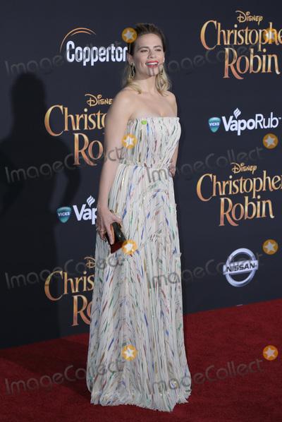 Hayley Atwell Photo - 30 July 2018 - Burbank California - Hayley Atwell Premiere of Disneys Christopher Robin held at Walt Disney Studios Photo Credit PMAAdMedia