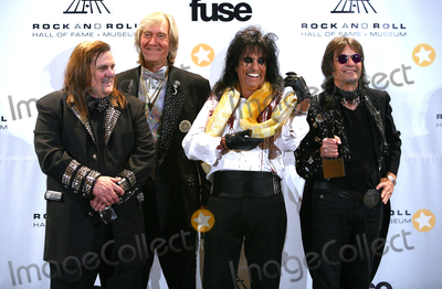 Paul Zimmerman Photo - 14 March 2011 - New York NY - Michael Bruce Neal Smith Alice Cooper and Dennis Dunaway  The press room at the 26th annual Rock and Roll Hall of Fame Induction Ceremony at The Waldorf-Astoria on March 14 2011 in New York City Photo Credit Paul ZimmermanAdMedia