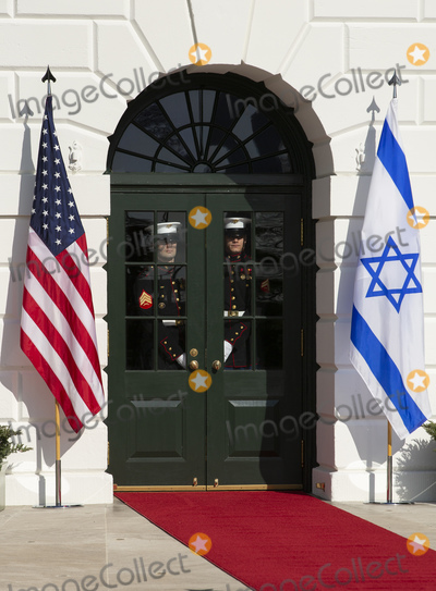 Benjamin Netanyahu Photo - Members of the Honor Guard prepare for the arrival of Benjamin Netanyahu Prime Minister of the State of Israel at the White House in Washington DC US on Monday January 27 2020Credit Stefani Reynolds  CNPAdMedia