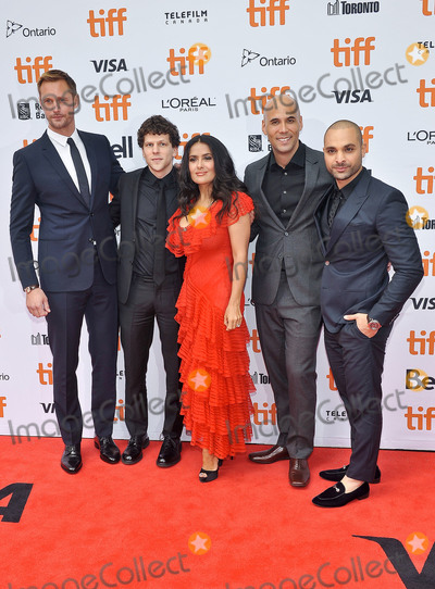 Alexander Skarsgrd Photo - 08 September 2018 - Toronto Ontario Canada - Alexander Skarsgrd Jesse Eisenberg Salma Hayek Kim Nguyen and Michael Mando The Hummingbird Project Premiere - 2018 Toronto International Film Festival held at the Princess of Wales Theatre Photo Credit Brent PerniacAdMedia