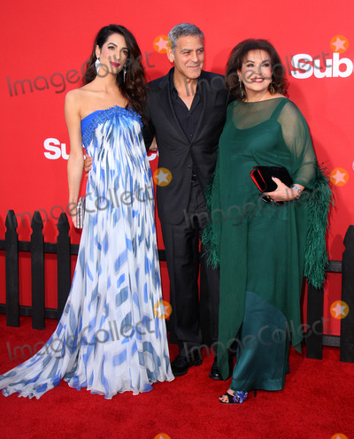Amal Clooney Photo - 22 October 2017 - Los Angeles California - Amal Clooney George Clooney and Baria Alamuddin Suburbicon Premiere held at the Regency Village Theatre in Los Angeles Photo Credit AdMedia