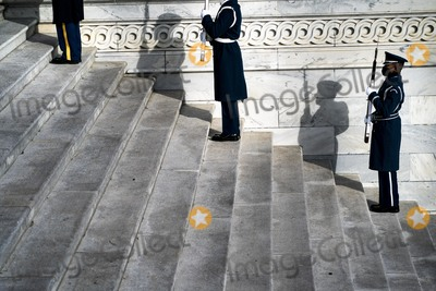 Nas Photo - WASHINGTON DC - JANUARY 18 2021 On the East Front steps of the US Capitol lined by Honor Guard lawmakers staff and Sergeant at Arms staff run through the movements during rehearsal for Wednesdays 59th Inauguration Ceremonies on Capitol Hill in Washington DC Monday January 18 2021 Credit Melina Mara  Pool via CNPAdMedia
