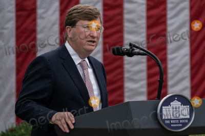The White Photo - Governor Tate Reeves (Republican of Mississippi) speaks following United States President Donald J Trump giving an update on the Nations Coronavirus Testing Strategy in the Rose Garden of the White House September 28 2020 in Washington DC Credit Ken Cedeno  Pool via CNPAdMedia