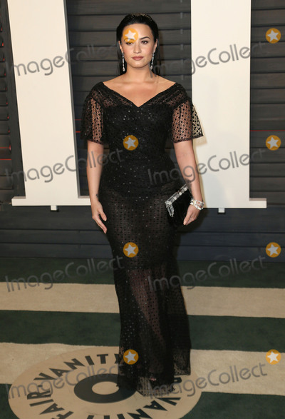DEMI  LOVATO Photo - 28 February 2016 - Beverly Hills California - Demi Lovato 2016 Vanity Fair Oscar Party hosted by Graydon Carter following the 88th Academy Awards held at the Wallis Annenberg Center for the Performing Arts Photo Credit Byron PurvisAdMedia