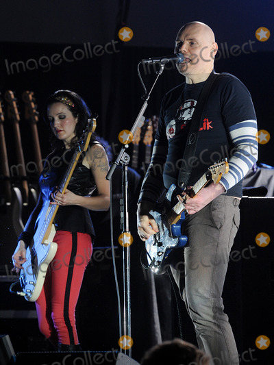 Billy Corgan Photo - 06 December 2012 - Pittsburgh PA - Vocalistguitarist BILLY CORGAN and bassist NICOLE FLORENTINO of the alternative rock band SMASHING PUMPKINS performs at a stop on their Oceania Tour 2012  held at Stage AE  Photo Credit Jason L NelsonAdMedia